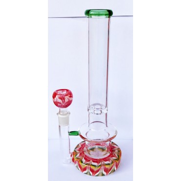 Glass Bong Red WBN-015