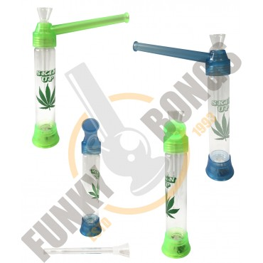 TOP PUFF acrylic bong 20cm MJ leaf with led lighter