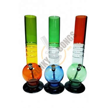 Acrylic Bong Bubble Style Raised Grips 32cm