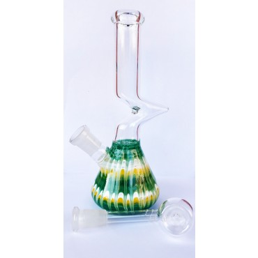 Glass Bong Green WBN-013